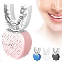Automatic Electric Ultrasonic Toothbrush Hands Free 360° Whitening Brushing