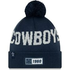 DALLAS COWBOYS 2019 NFL NEW ERA OFFICIAL SIDELINE ROAD SPORTS KNIT BEANIE HAT