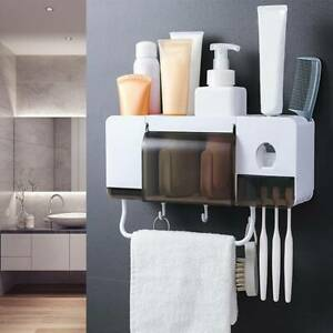 Multifunction Wall Mounted Toothbrush Holder Bathroom Accessories Set Storage UK