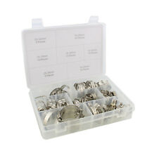 ABN Stainless Steel Hose Clamp 60-Piece Assortment Set – Automotive Metal Clamps