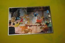 cp carte postale vintage  année 70 walt disney : blanche neige et les 7 nains