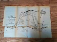 1882 Sketch Map of Missouri River Vicinity of Council Bluffs IA Railroads