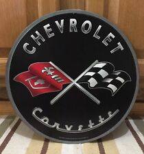 Chevrolet Corvette Model Advertising Display Metal Sign Parts Sales Sting Ray