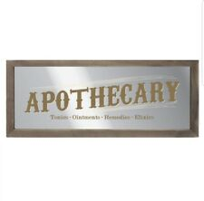 Apothecary Mirrored Wall Art