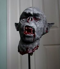 More details for orc's head on wrought iron spike - life lized