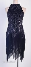 1920's Flapper Dress White Clubwear Great Gatsby Sequin Tassel One Size AF 3225
