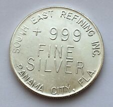 SOUTH EAST REFINING INC. PANAMA CITY ONE TROY OUNCE 999 FINE SILVER ROUND