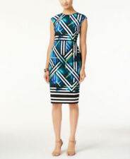 Vince Camuto Geo-Print Sheath Dress size8 MSRP$148