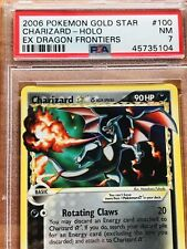 2006 Pokemon ex Dragon Frontiers Charizard Gold Star #100 PSA 7