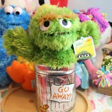 Authentic Sesame Street Oscar Grouch Furry Plush Soft Stuffed Toy 32cm