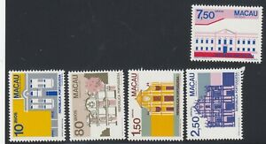 Macao  stamps 1983 SC#472-6 Architecture type, mint, NH cat.$13.75