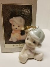 Precious Moments Porcelain Light Up Hanging Ornament Baby Bear