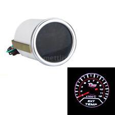 "2"" 52mm Car EGT Exhaust Gas Temp Gauge Meter White LED+ Sensor Universal G5T8"