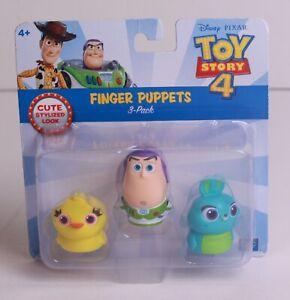 Disney Pixar Toy Story 4 Finger Puppets Ducky & Buzz Lightyear & Bunny NEW!