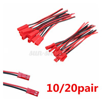 10 / 20 Pairs Mini JST  2-Pin Connector Plug Male Female with Wires Cables 150MM