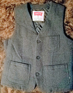 Levi's Mens Vest Size M Wool & Polyester Gray