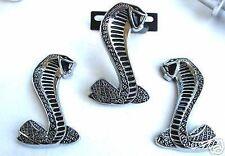 94-04 Mustang GT Cobra Grill Emblem Emblems 3 pc Set