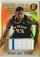 NBA Basketball - ANTHONY DAVIS -  Panini White Gold Jersey Trikot Card No.75/199