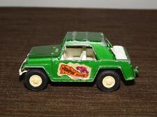 """VINTAGE  TOY 3 3/4"""" METAL & PLASTIC 1970 TOOTSIETOY JEEPSTER JUMPIN JEEPER CAR"""