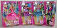 Barbie in THE PINK SHOES Set of 4 Odette Giselle Kristyn Farraday Prince Dolls