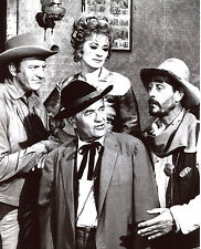 Gunsmoke James Arness Amanda Blake Ken Curtis Milburn Stone 8x10 photo T0775