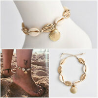 1Pcs Women Boho Statement Charm Conch Shell Rope Chain Anklet Bracelet Jewelry