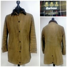Womens Barbour Newmarket Wax Jacket Size 18 Brown Collared