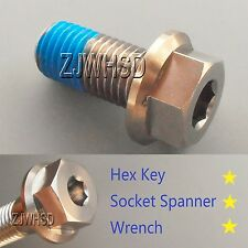 M12 x 1.5 x 25 Titanium Ti Screw Bolt Socket Cap Hexagon Hex Flange Head +Blue