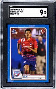2020 Topps Bowman MLS Ricardo Pepi Rookie Blue /150 SGC 9
