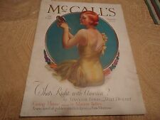 Vtg 11/1929 McCall's Magazine Articles Great Ads Fashions McMein Sinclair Lewis
