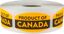 Product of Canada Retail Stickers, 0.75 x 1.375 Inches, 500 Labels on a Roll