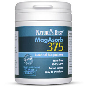 Magnesium 375mg - Unique One-A-Day Magnesium (at 100% NRV) | UK-Made