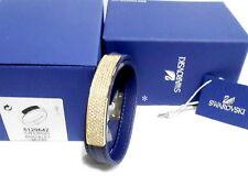 Swarovski Vio Navy Leather Bracelet, Crystal Authentic MIB 5120642