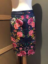 Zara Blue Floral Skirt Size M