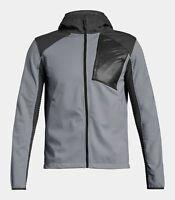 NWT Under Armour Storm Treyk Ski Snowboard Jacket Men's GRAY hoodie Coat NEW XL