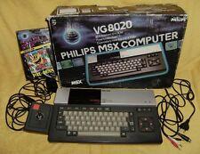 MSX VG8020 COMPUTER PHILIPS - EN CAJA + JOSTICK + JUEGO PACMAN - COMO NUEVA