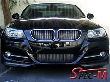 Painted 668 Jet Black Front Bumper Add on Lip For 2009-2011 E90 LCI 328i 335i