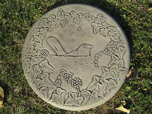 BLACKBIRD P stepping stone garden ornament / other designs in my shop