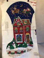 2 Cranston VIP jumbo NIGHT BEFORE CHRISTMAS stocking panels (4 sides) HTF