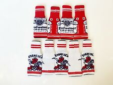 Budweiser Knitted Ugly Sweater Beer Koozie Christmas Rare Set Of 9 Red White