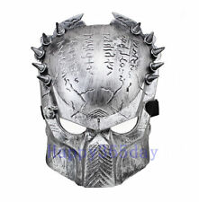 Silver Predator Cosplay Mask Halloween Costume Fancy Dress Full Face Mask