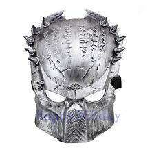 Silver Predator Cosplay Mask Halloween Costume Fancy Dress Full Face Mask