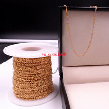 10meter Gold Stainless Steel tiny 1.5mm Link Chain Jewelry Marking Finding DIY