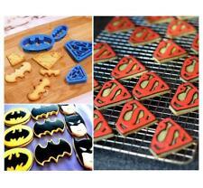 4PCS Super Hero Batman Superman Cookie Cutter Sugarcraft Cake Decoration Molds J