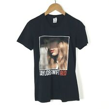 Taylor Swift Womens 2013 Red Concert Tour T-shirt Size Small Black Short Sleeve