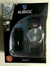 Auriol Mens Quartz Watch - Water Resistant with Extra Links and Adjustment Tool