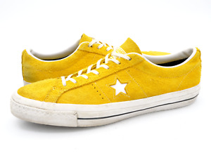 Converse Mens 11.5 Yellow One Star Ox Low Top Leather Lace Up Sneaker Shoes