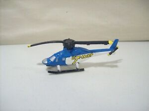 VINTAGE 1992 MICRO MACHINES EX-CORP HELICOPTER GALOOB BLUE & WHITE CHOPPER