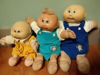 Vintage Cabbage Patch Doll 1980s three boys preemie babies birth certificate