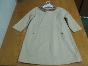 Janie and Jack Autumn Safari Fleece Dress with Leopard Collar-Sz. 10